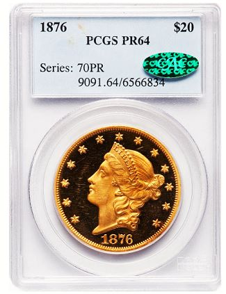 gr ha aug12 1876 20 Coin Rarities & Related Topics: Select Rarities in Pre ANA Platinum Night event