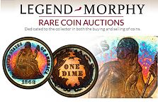 Legend-Morphy Auctions to Become Official Auctioneer of PCGS Members Only Shows