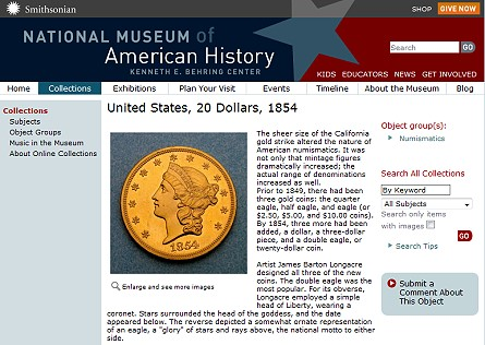 nat museum website Dillon Gage Donates to New, National Numismatic Gallery