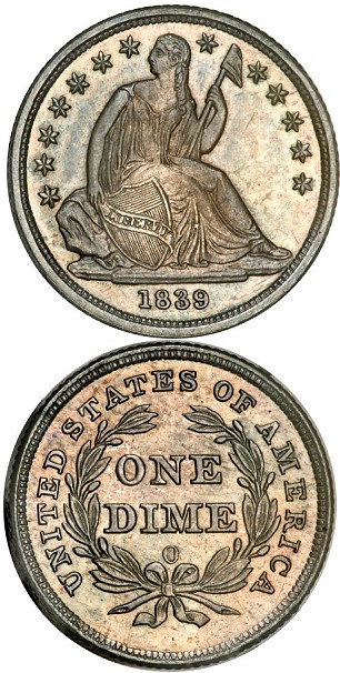 1839 O 10c SP Coin Rarities & Related Topics: Special 1839 O Liberty Seated Dime