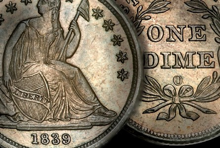 Coin Rarities & Related Topics: Special 1839-O Liberty Seated Dime