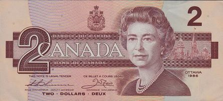 Canadian Currency $2 Canadian Bank Note Valued at $15,000+