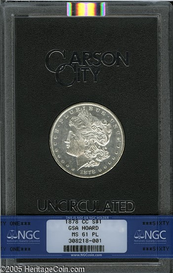 gr 0926 gsa Coin Rarities & Related Topics: Carson City Mint Morgan Silver Dollars