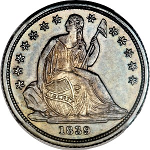 gr 39 o 10c ha oct 2012 Coin Rarities & Related Topics: Special 1839 O Liberty Seated Dime