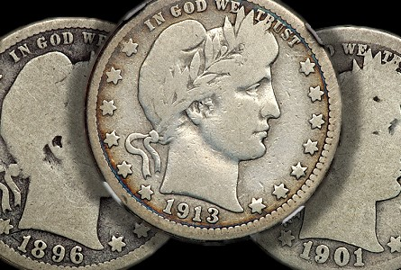 gr barber thumb Circulated Barber Quarters, with emphasis upon recent auction results for Key Dates