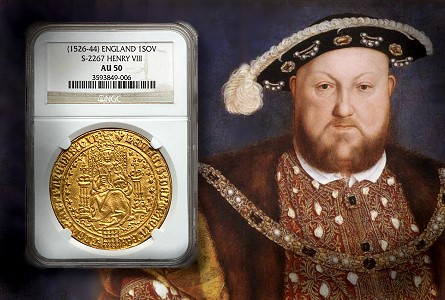 Coin Rarities & Related Topics: Amazing English Gold Sovereign of Henry VIII