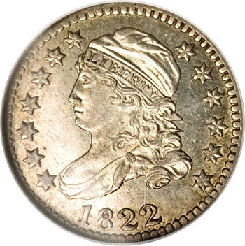 1822 10c haPL Coin Rarities & Related Topics: Dimes of 1822
