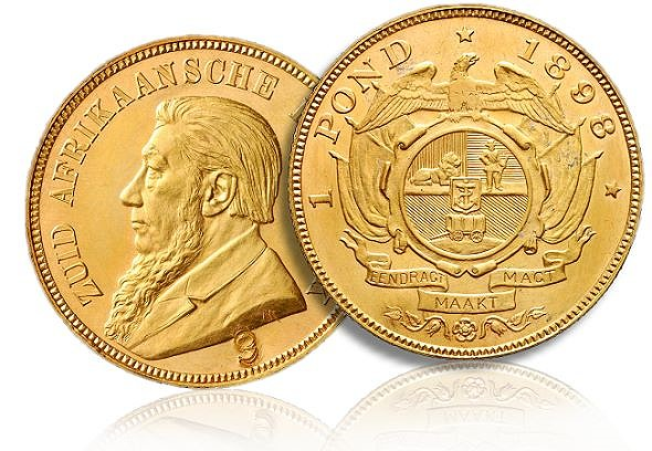 "1 pond 9 sa The 1898 ""Single 9"" Pond: South Africa's rarest gold coin"