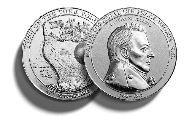brock3 Brock by Brock   Commemorative Silver & Gold medallions of Major General Sir Isaac Brock