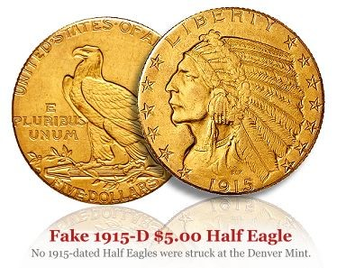 Rare Coin Counterfeiting - US Gold