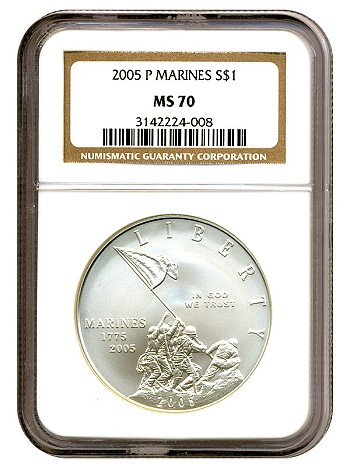 marine dollar 2005 ngc70 A MODERN COMMEM WITH A BRIGHT FUTURE
