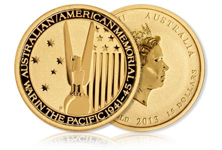 American Australian WWII Goldline Offers Uncirculated Gold Coin Commemorating American Australian Alliance During WWII