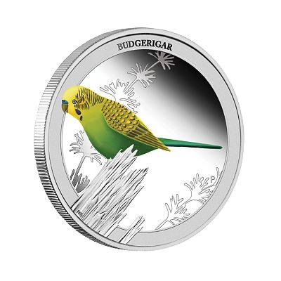 Budgerigar The Budgerigar Has Landed on Perth Mint Coin