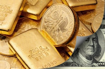 gold dollar 2 Gold and Silver Rise With Stocks on Fiscal Cliff Hopes