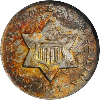 gr 3cs 51O Coin Rarities & Related Topics: Astonishing Three Cent Silvers in Rarities Night