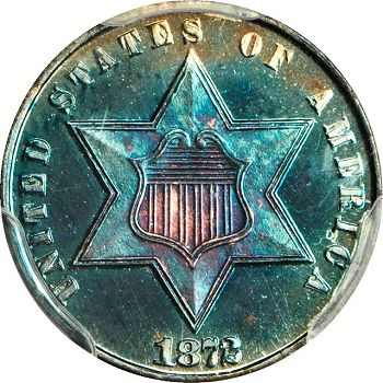 gr 3cs 73 Coin Rarities & Related Topics: Astonishing Three Cent Silvers in Rarities Night