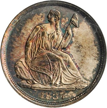 gr lsd 1837 Coin Rarities & Related Topics: Commentary on Liberty Seated Dimes in Rarities Night