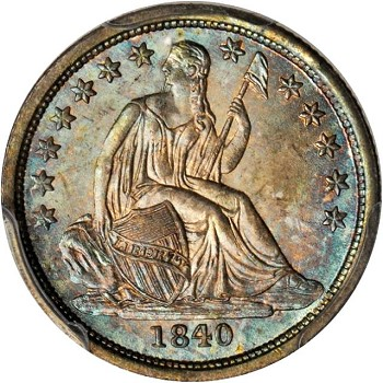 gr lsd 1840 Coin Rarities & Related Topics: Commentary on Liberty Seated Dimes in Rarities Night