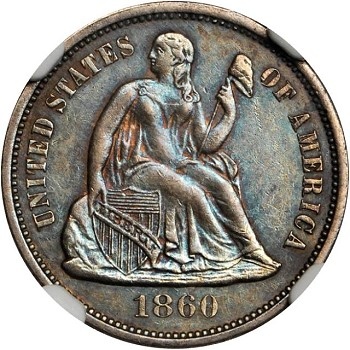 gr lsd 1860 Coin Rarities & Related Topics: Commentary on Liberty Seated Dimes in Rarities Night