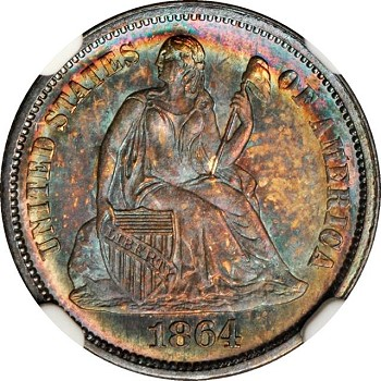 gr lsd 1864 Coin Rarities & Related Topics: Commentary on Liberty Seated Dimes in Rarities Night