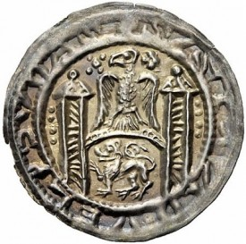 bracteate of Walter II of Arnstein (1135-1176), minted in Hettstett (No. 797)
