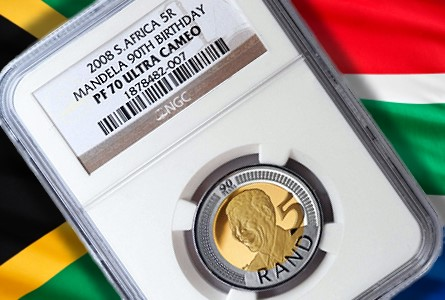 mandella 5 90th The Coin Analyst: From 50 Cents to $1 Million? High Grade Nelson Mandela Coins Continue to Set Price Records