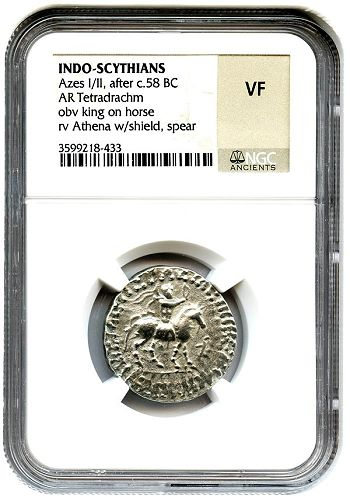 ngc ancients holder The Legacy of Alexander the Great  and Silver Tetradrachms of Azes:  NGC Ancients