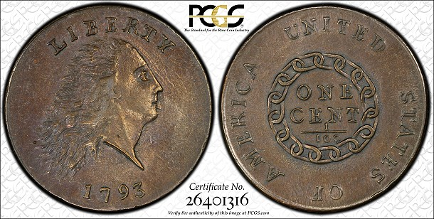pcgs 1793 lgcent PCGS Exhibits Superb Large Cents At FUN