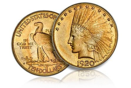 1920 S 10 pcgs67+ Great American Gold Coins   Dual Rarities!