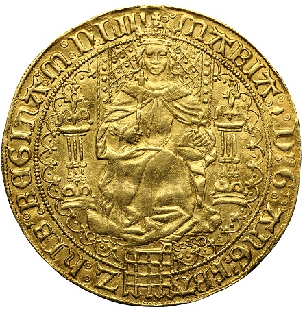 bonhams Mary1 gold sov dec2012  Rare English Gold Sovereign of Queen Mary I