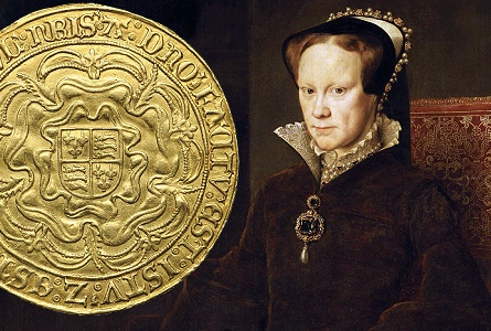 queen mary coin  Rare English Gold Sovereign of Queen Mary I
