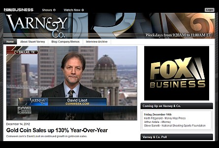 CoinWeek's David Lisot on Fox Business News Varney & Company