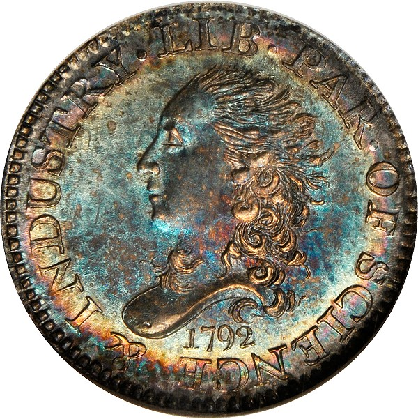 1792 Half Disme Cardinal obv Coin Rarities & Related Topics: 1792 Half Dimes, Part 2: Amazing Pieces to be Auctioned