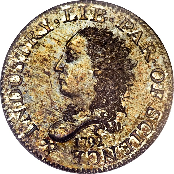 1792 star half disme obv Coin Rarities & Related Topics: 1792 Half Dimes, Part 2: Amazing Pieces to be Auctioned