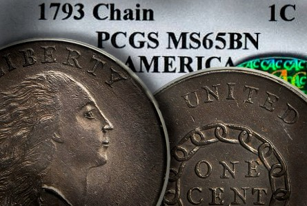 Coin Rarities & Related Topics: Gem Quality 1793 Chain Cent To be Auctioned