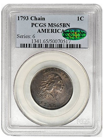 1793 sb Chain Jan2013 pcgs Coin Rarities & Related Topics: Gem Quality 1793 Chain Cent To be Auctioned
