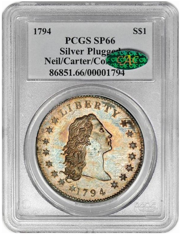 1794 dollar pcgs holder Coin Rarities & Related Topics: The Top Ten Auction Records for Coins & Patterns