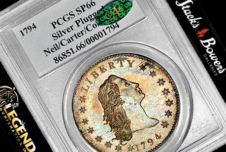 1794 Silver Dollar sets 10 Million + World Record at Stacks Bowers Auction in NY
