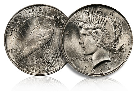 1964 D Peace Dollar PCGS Picks Top 100 Modern Coins, Offers Reward For 1964 D Peace Dollar