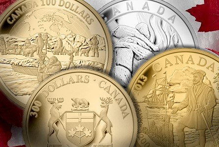Royal Canadian Mint Rings in 2013 With New Collector Coins Celebrating Canadian Heritage and History