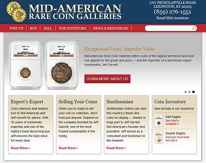 Mid-American Rare Coin Galleries Launches New Website