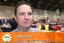 Oded Paz Announces Candidacy for ANA Board of Governors. VIDEO: 2:16.