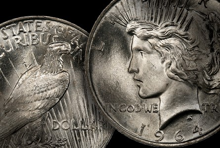 PCGS Picks Top 100 Modern Coins, Offers Reward For 1964-D Peace Dollar