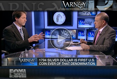 David Lisot on Fox Business News with Stuart Varney on the state of the Gold Market and the 1794 Dollar