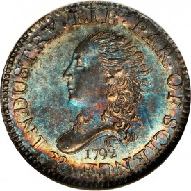 1792 Half Disme Cardinal obv 275x275 Coin Rarities & Related Topics: Cardinal Collection Results, Part 1: 1792 to 1794