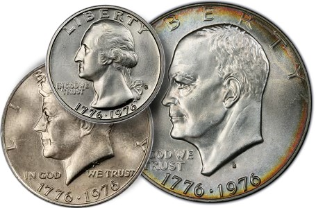 bicent 3 coin set thumb Return to Bicentennial Coinage: Silver Business Strikes