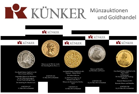 Künker Spring World Coin Auctions 226-231…. March 11-16th