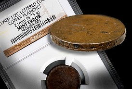 NGC Certifies Unstruck Planchet for 1793 Half Cents