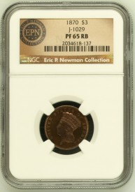 PtTG70copperNewmanObverseNGC 193x275 Coin Rarities & Related Topics: The Fabulous Eric Newman Collection, Part 2    Patterns