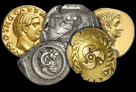 ancient coin group Ancient Roman Gold Coins Shine at Gorny & Mosch Auction